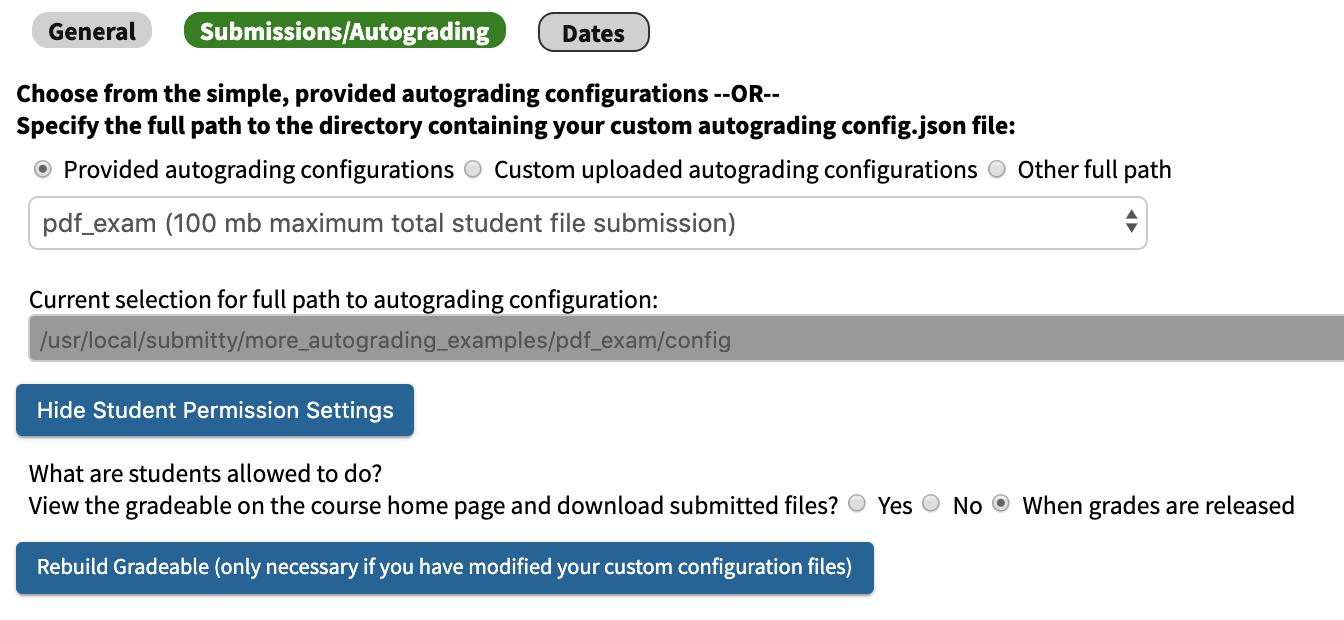 Bulk PDF Upload | Submitty
